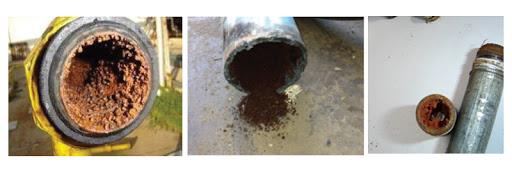Efectos de la humedad en las tuberías de aire
